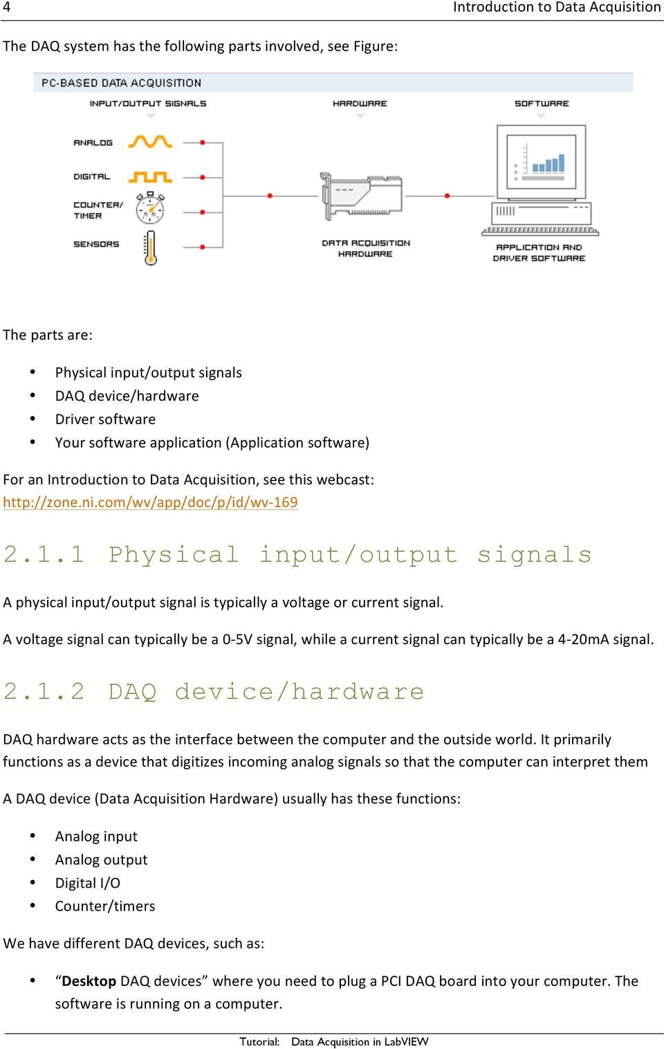 Data Acquisition In Labview Pdf Hardware Circuit Of Pcbased Logger Is Designed Around Analog 9 211 Physical Input Output Signals A Signal 5 Introduction To