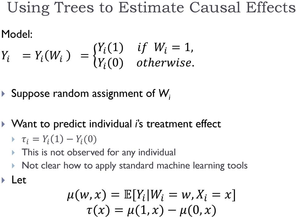 Machine Learning Methods for Causal Effects  Susan Athey