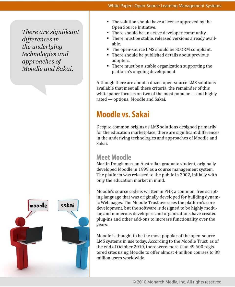 Open-Source Learning Management Systems: Sakai and Moodle - PDF
