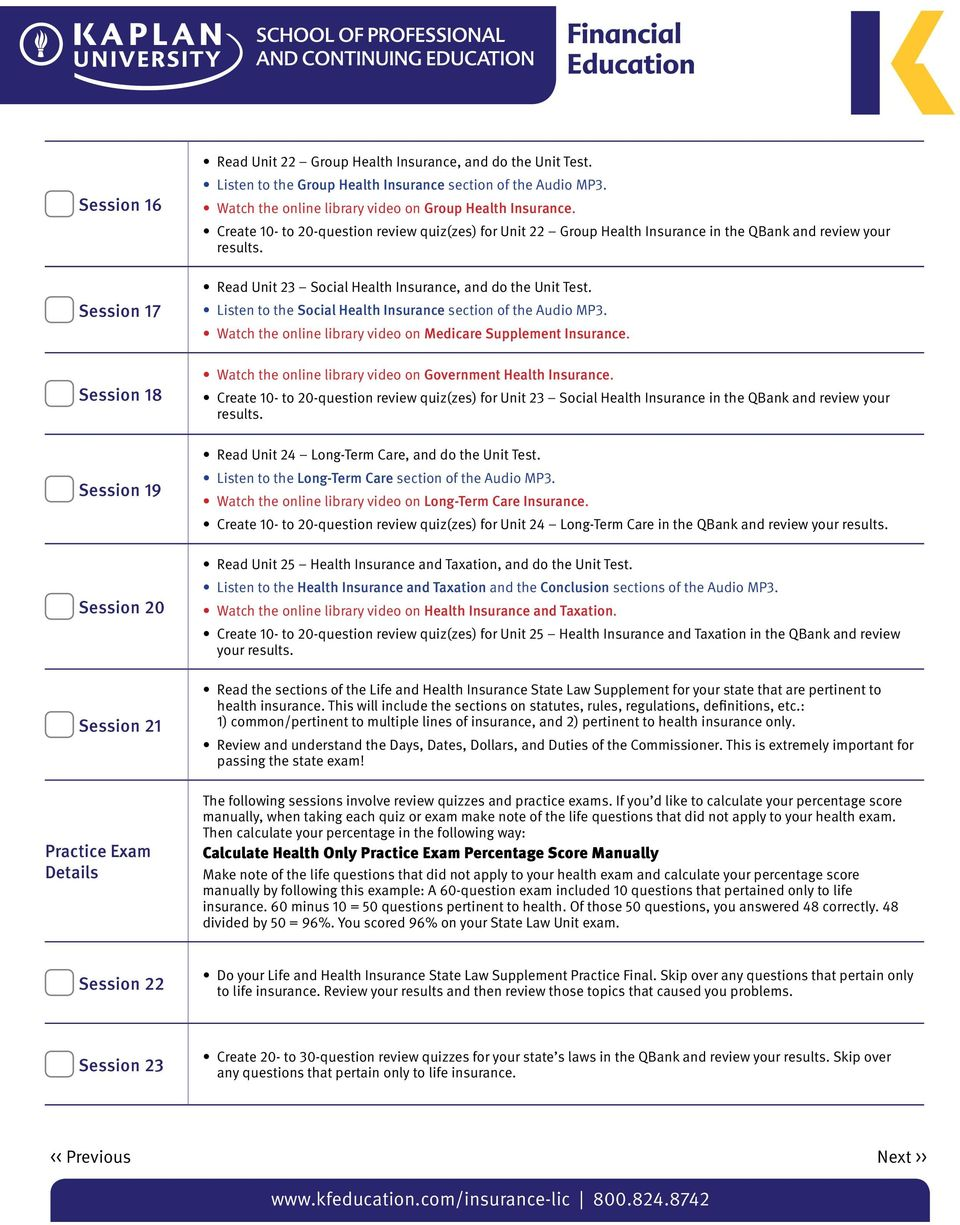 Study Guide  for the Health Insurance Exam  License Exam