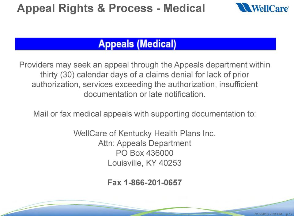 Wellcare Of Kentucky Provider Update Pdf