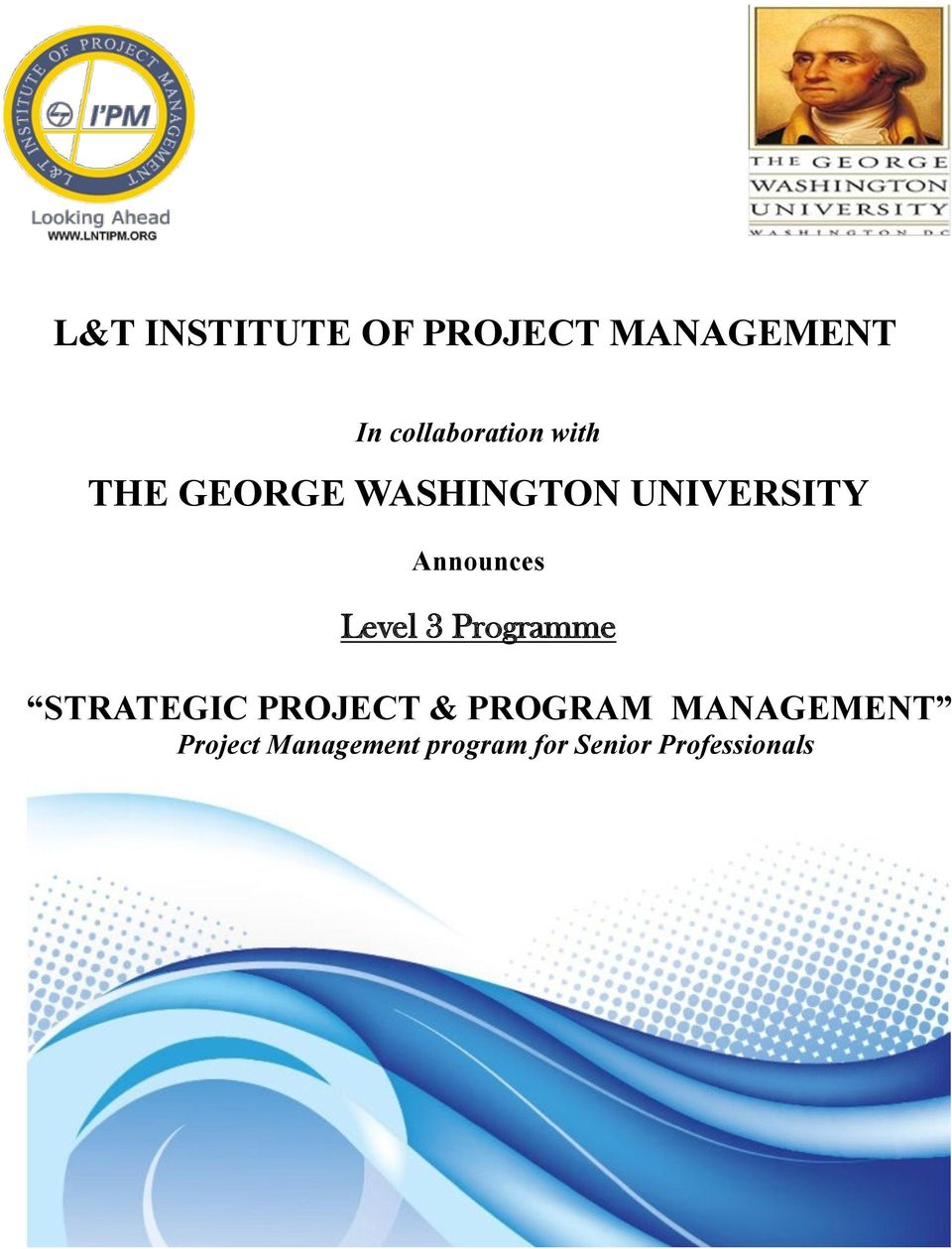 Lt Institute Of Project Management The George Washington University