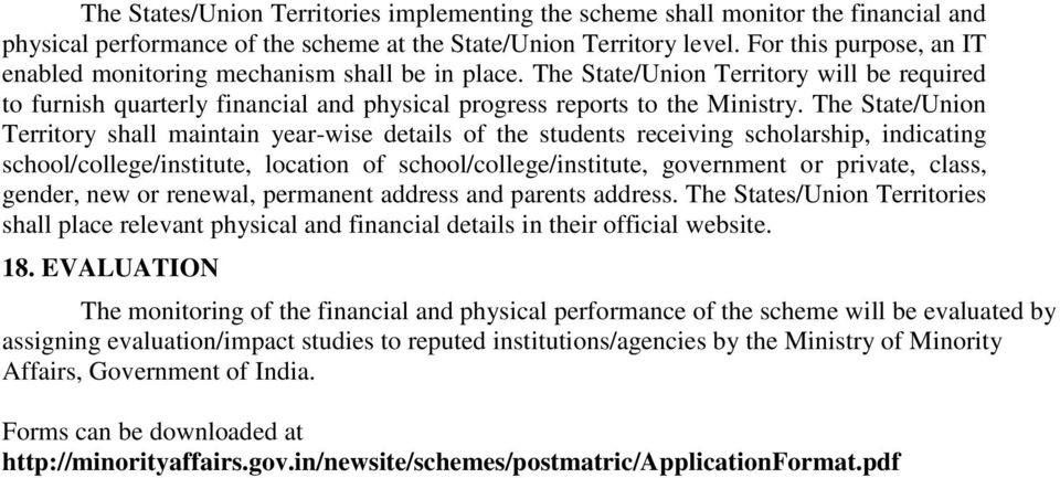 Schemes Run By Government Of India For The Uplift Of Minorities Pdf