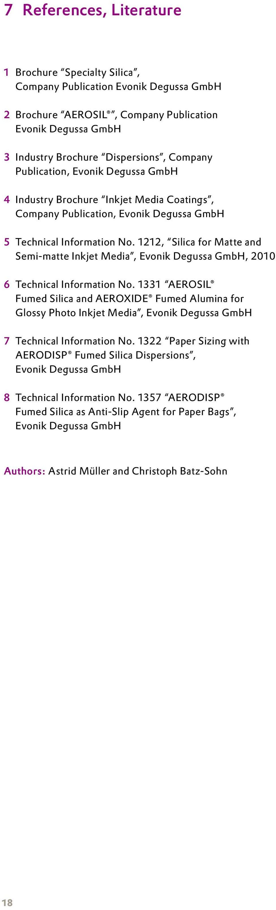Products for the Paper and Film Industry - PDF