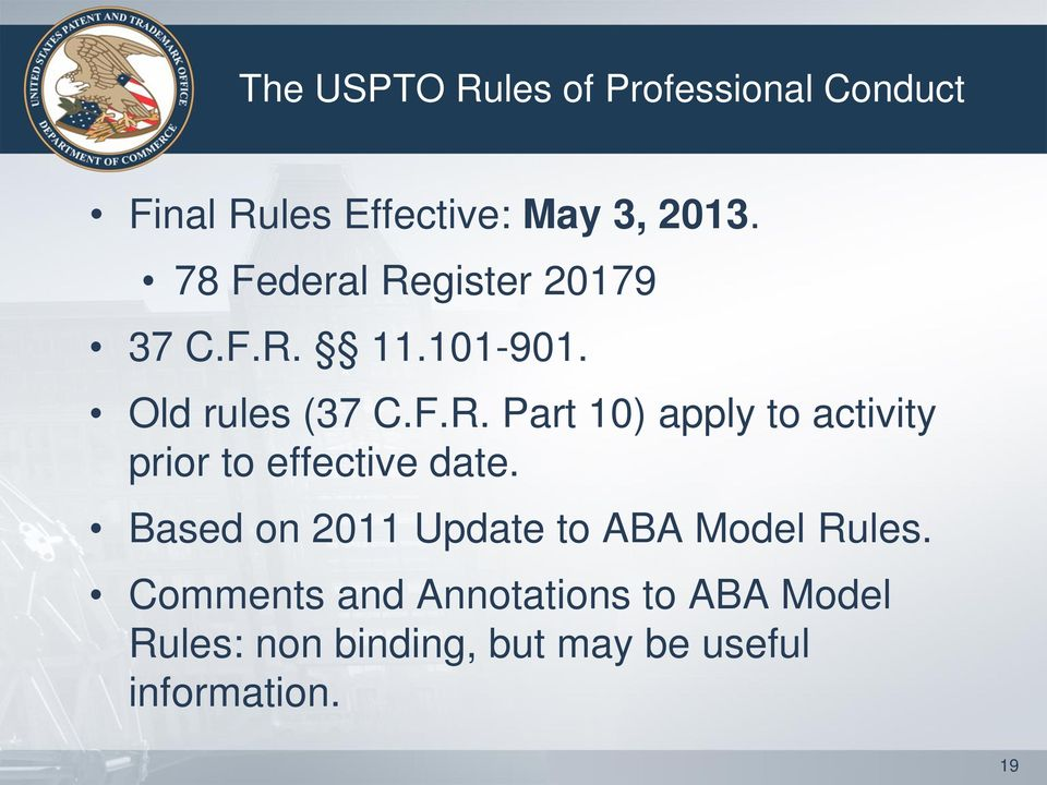 the comments to the rules of professional conduct are binding