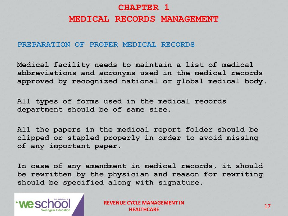 Chapter 1 Medical Records Management Pdf