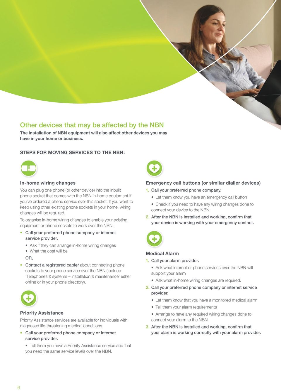 Preparing For The Nbn Fibre Connections Pdf Wiring Your House If You Want To Keep Using Other Existing Phone Sockets In