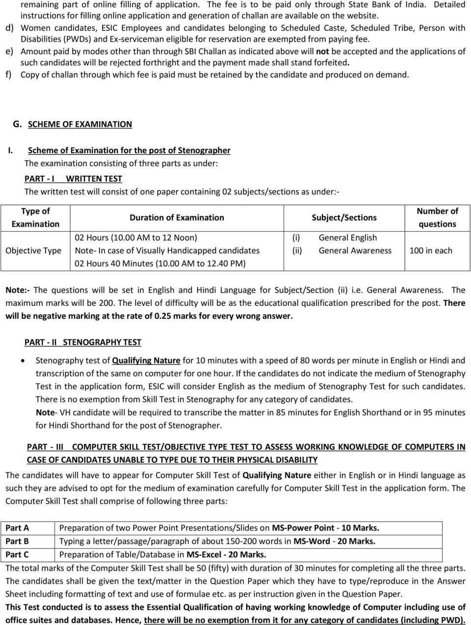 RECRUITMENT FOR THE POST OF STENO, UDC & MTS IN GUJARAT