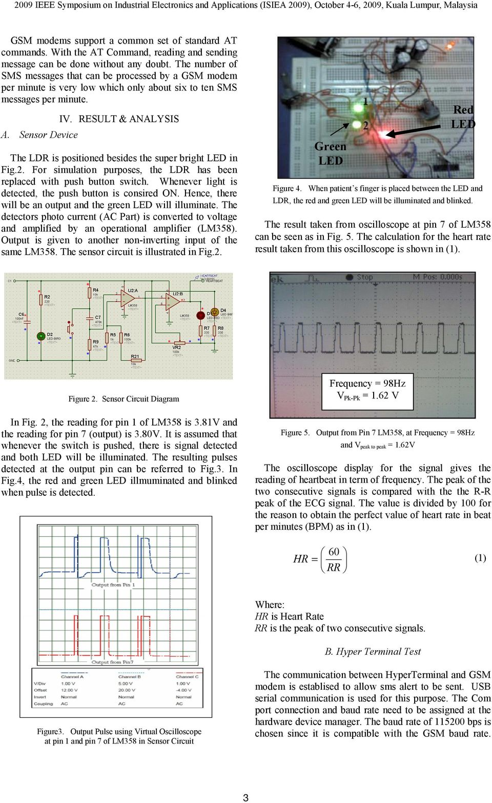 Heartbeat Monitoring Alert Via Sms Pdf Electronic Devices And Circuits By Rajiv Tiwari Sensor Device The Ldr Is Positioned Besides Super Bright Led In Fig2
