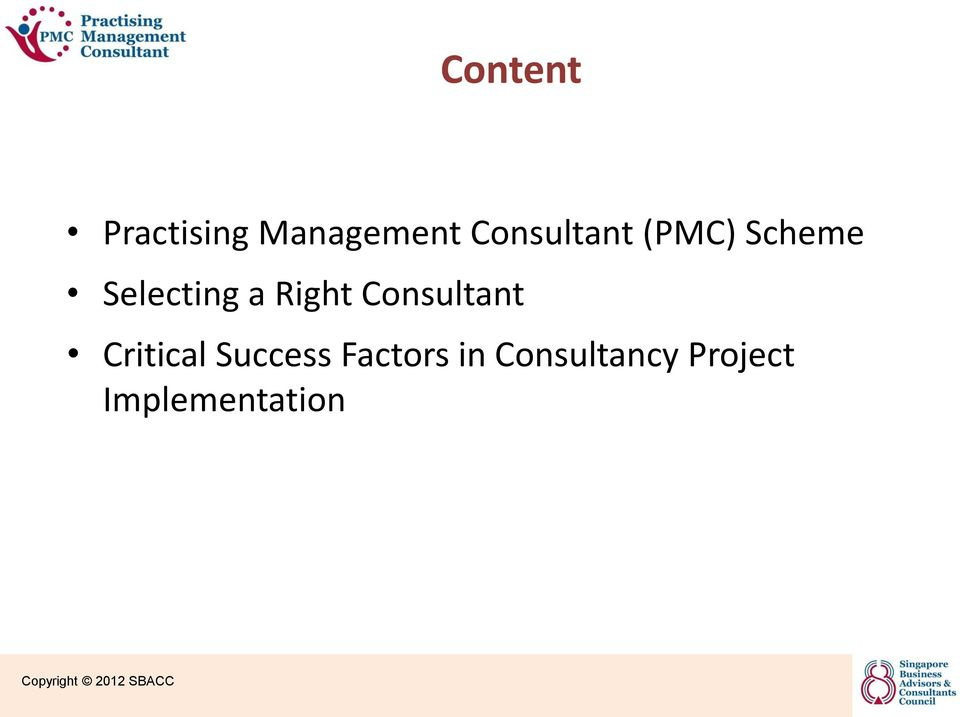 Practising Management Consultant Pmc Certification Scheme A