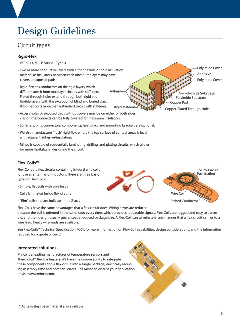 Flex Circuit Design Guide Pdf Layer Polimide Flexible Printed Board Manufacturers Pcb Custom Plated Through Holes Extend Both Rigid And Layers With The Exception Of