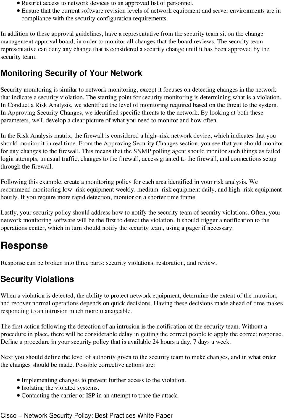 Network Security Policy: Best Practices White Paper - PDF
