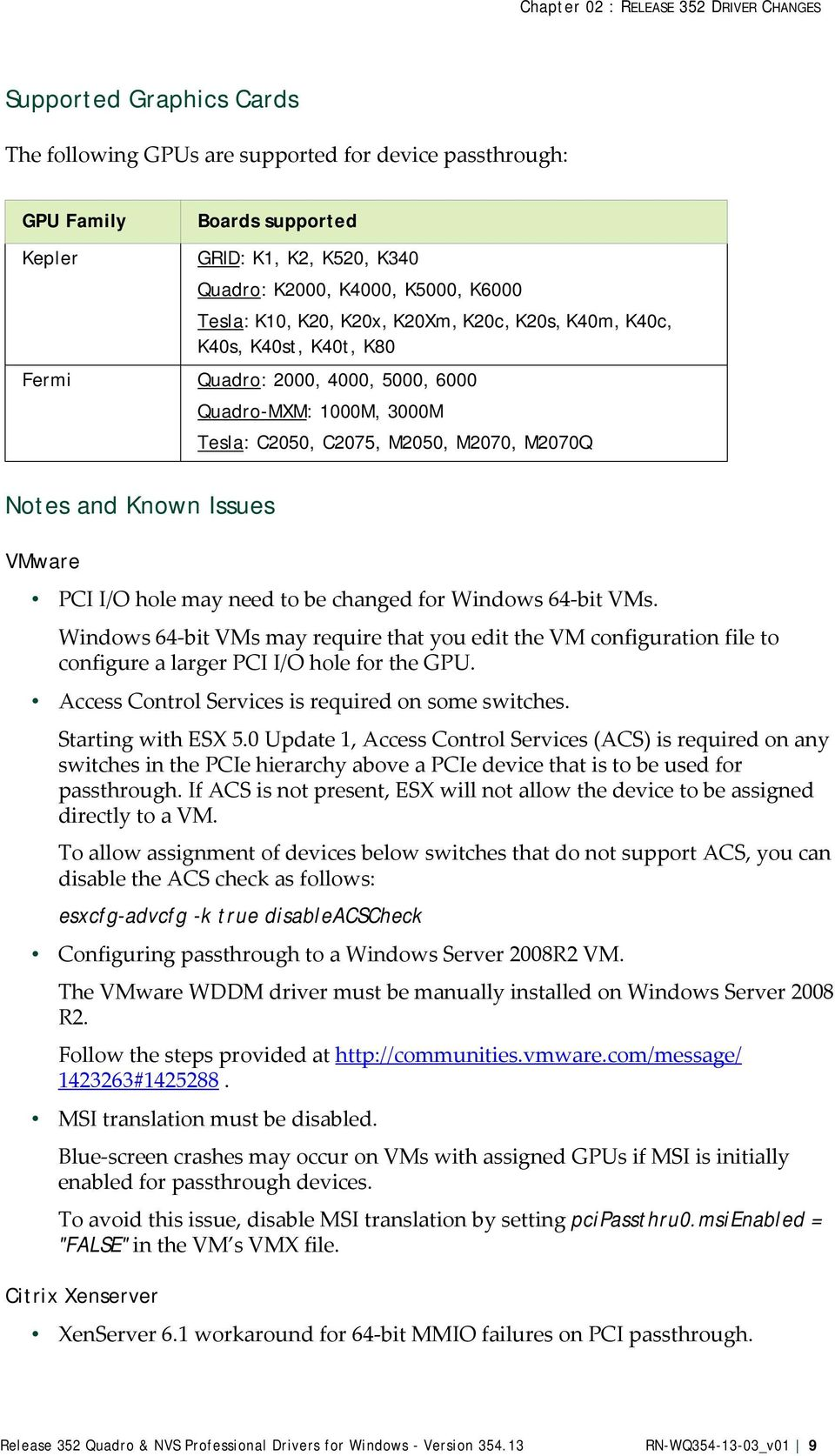 Release 352 Quadro & NVS Professional Drivers for Windows - Version