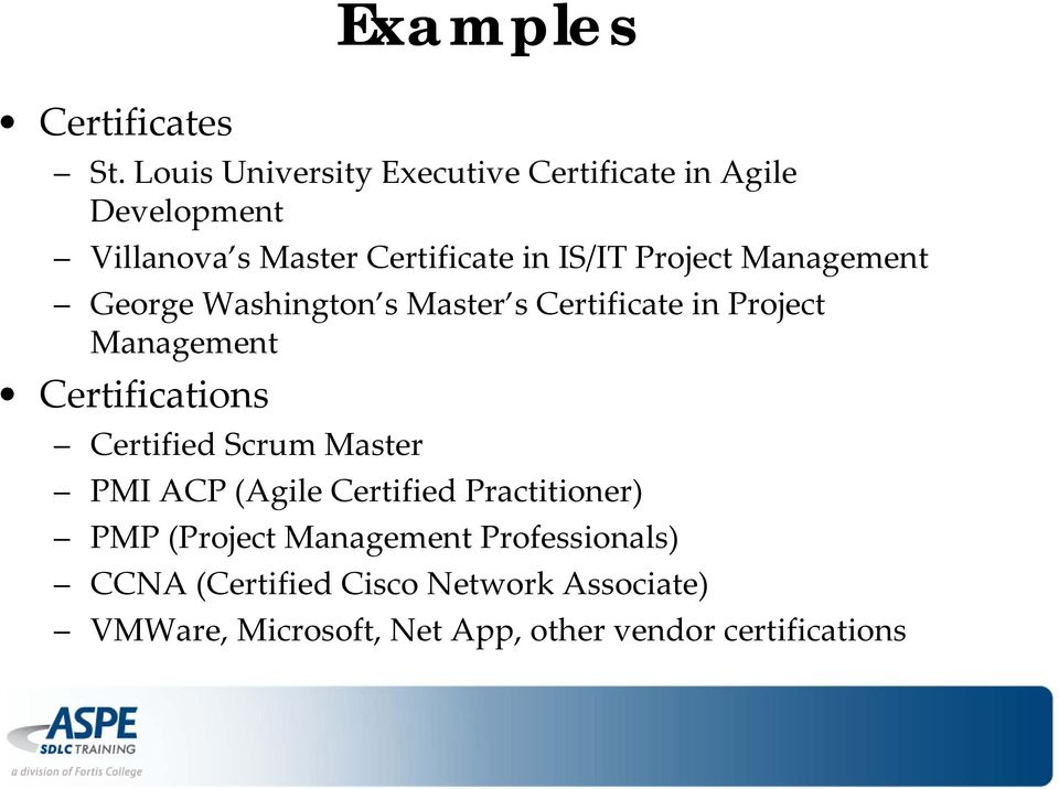 Agile Certification Options Primer Presented By Tom Mcgraw Csm Vp