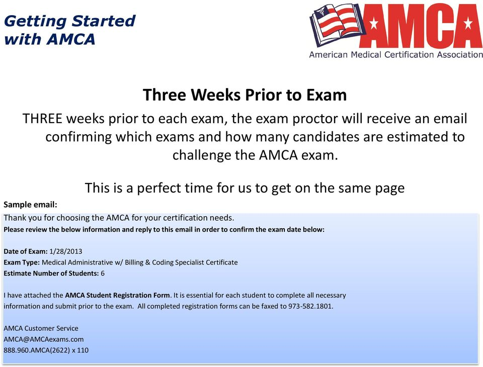 Getting Started with the AMCA Online - PDF