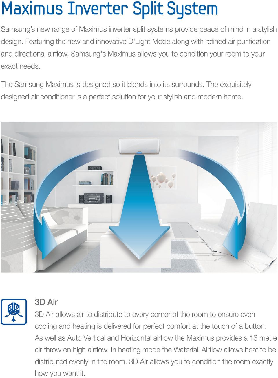 Samsung Room Air Conditioning Pdf Split Type Aircon Wiring Diagram The Maximus Is Designed So It Blends Into Its Surrounds Exquisitely