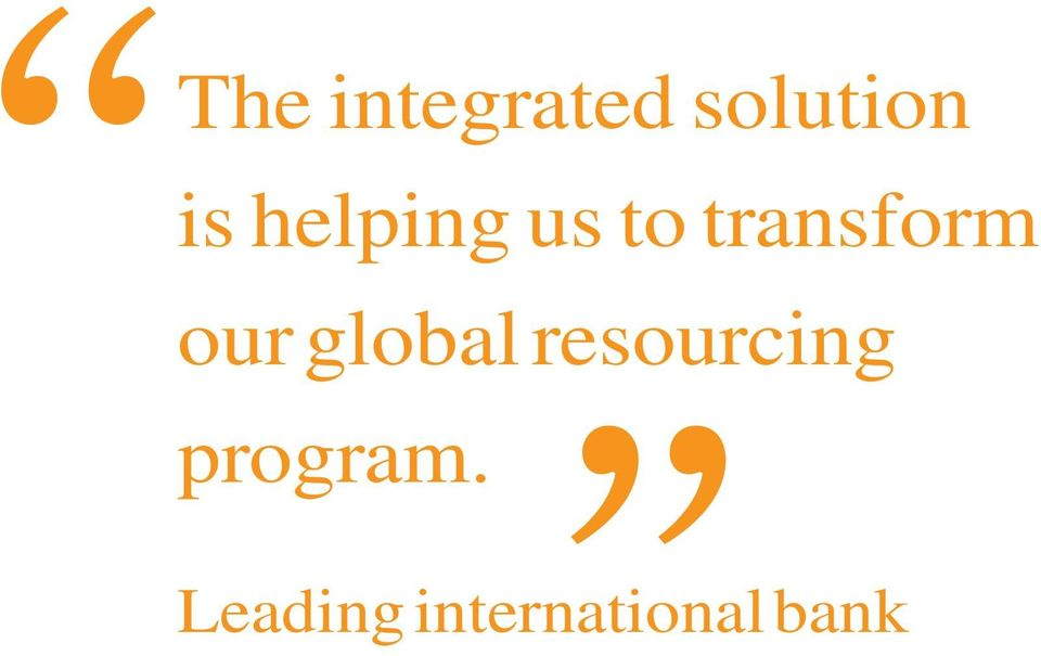 our global resourcing