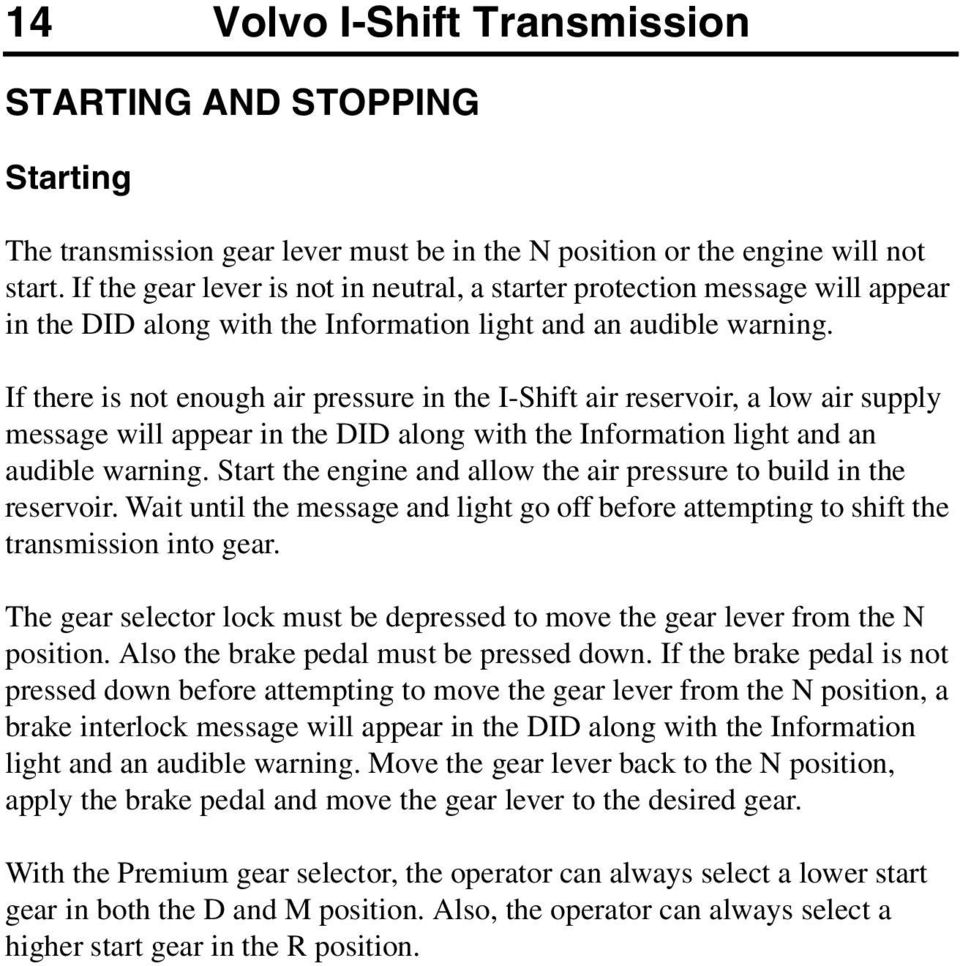 OPERATOR'S MANUAL i-shift transmission - PDF