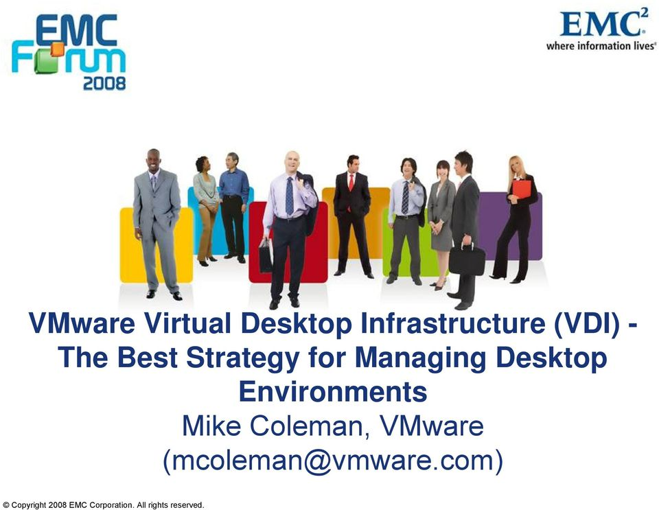 Environments Mike Coleman, VMware