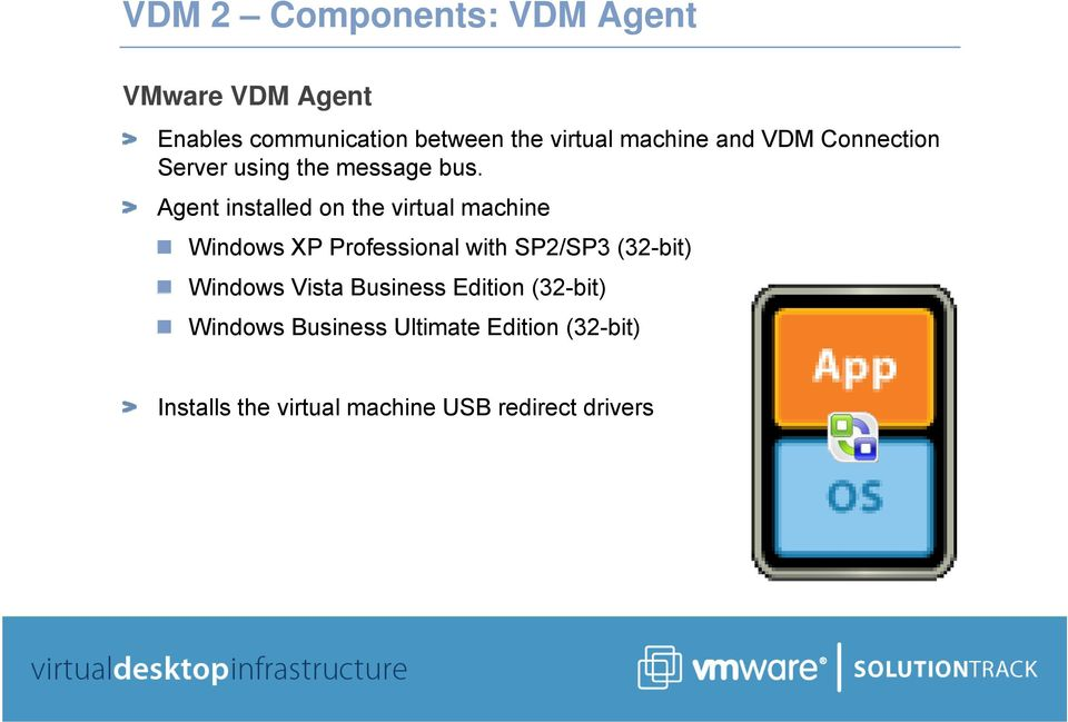 Agent installed on the virtual machine Windows XP Professional with SP2/SP3 (32-bit)