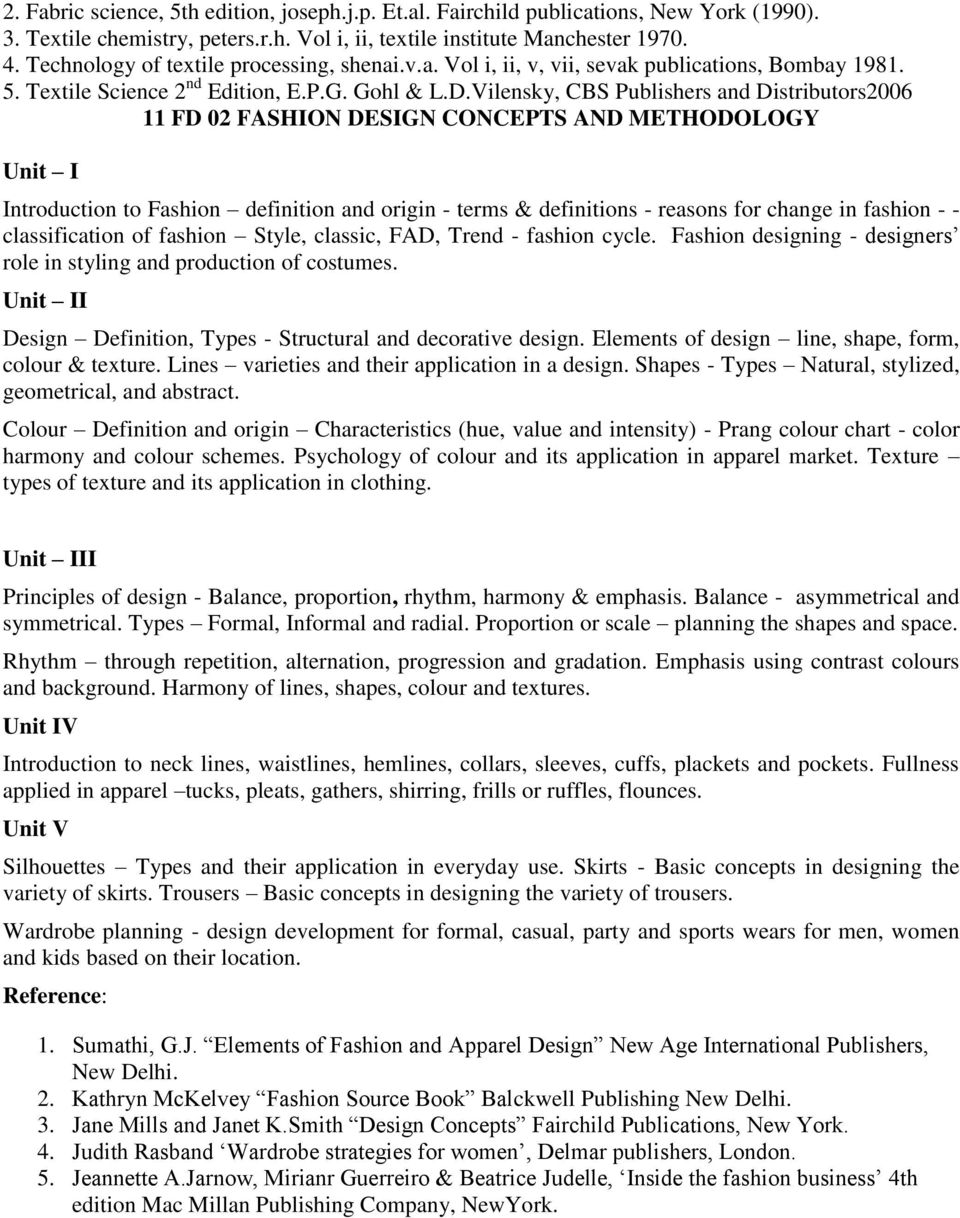 Regulations And Syllabus For Diploma In Fashion Designing And Apparel Production Dfdap 2011 Pdf Free Download