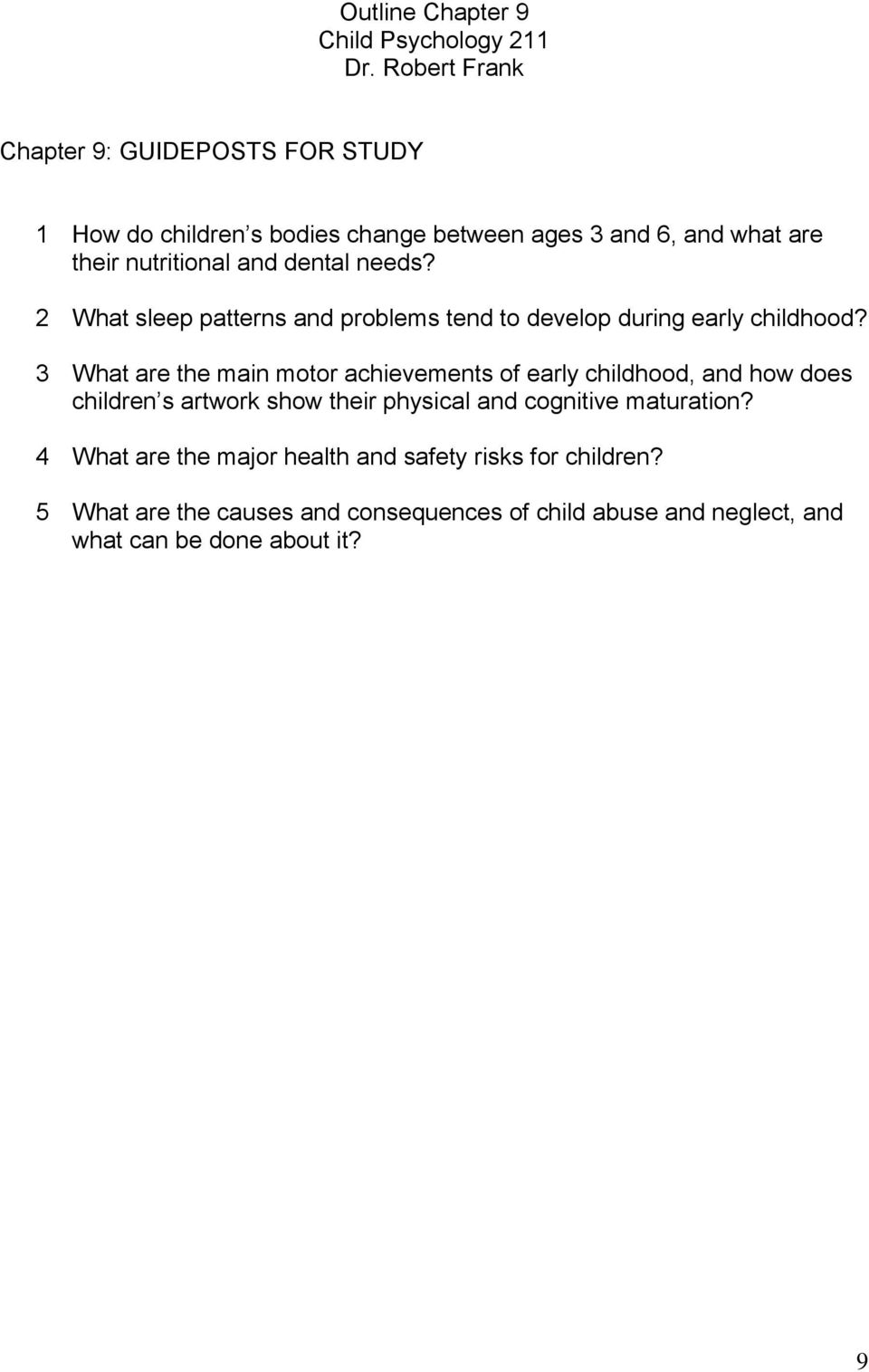 3 What are the main motor achievements of early childhood, and how does children s artwork show their physical and cognitive
