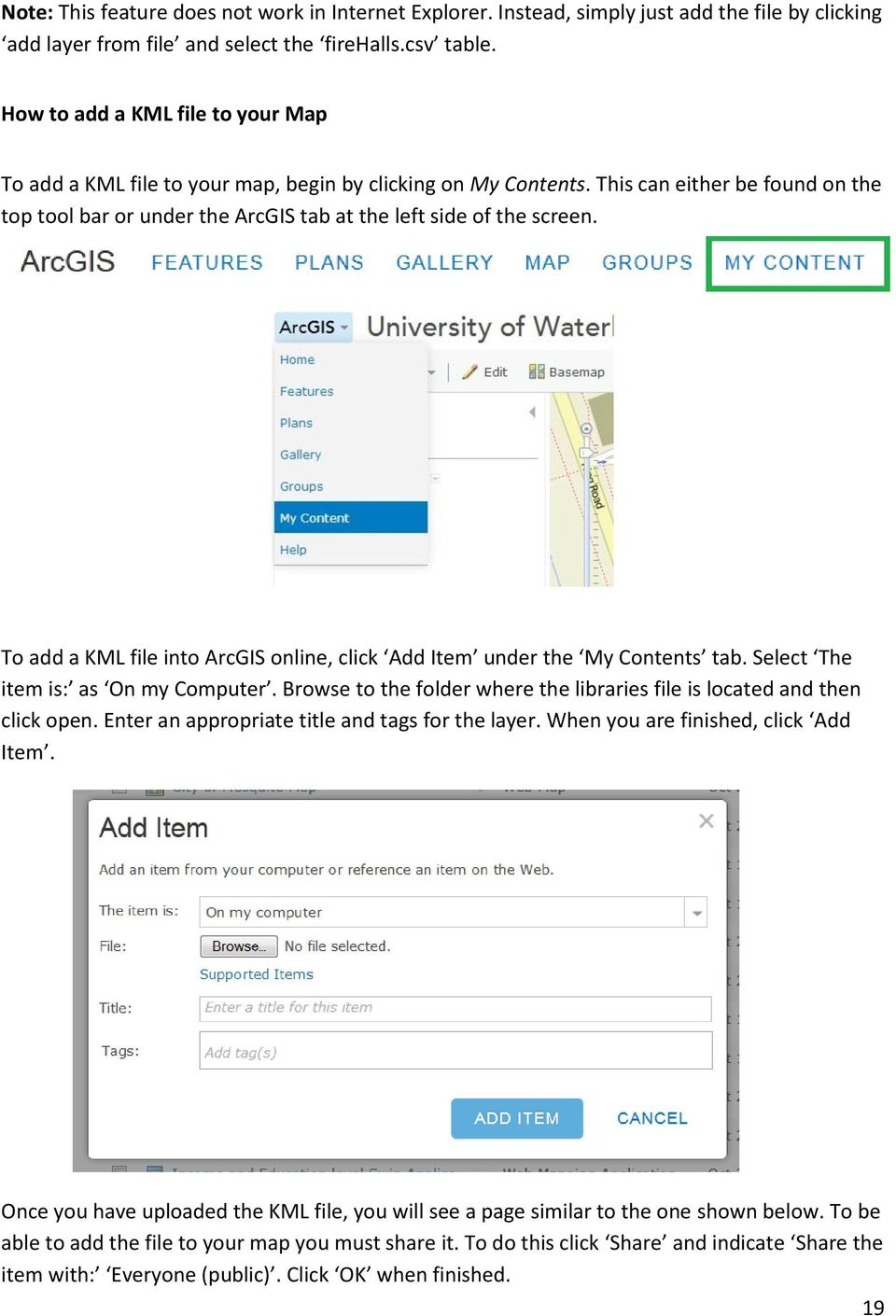 ArcGIS online Introduction Module 1: How to create a basic