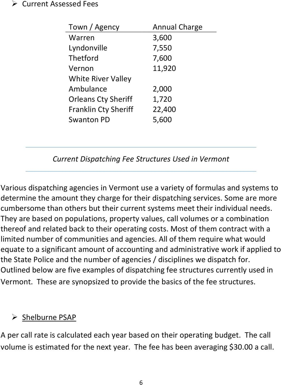 Vermont Department of Public Safety State Police Division - PDF