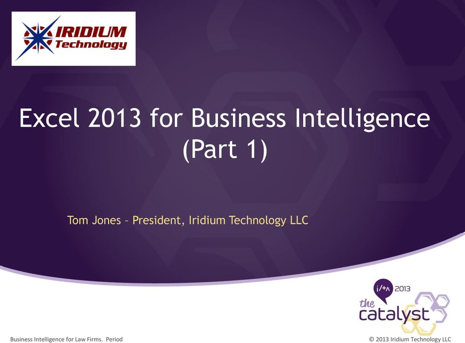 Technology LLC Business Intelligence for