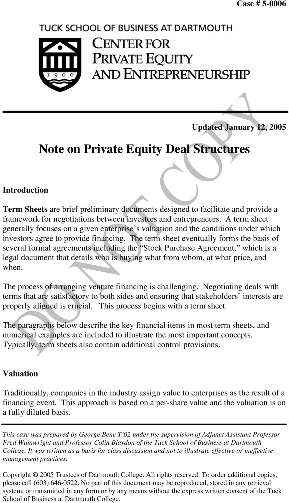 The Term Sheet Eventually Forms Basis Of Several Formal Agreements Including Stock Purchase Agreement
