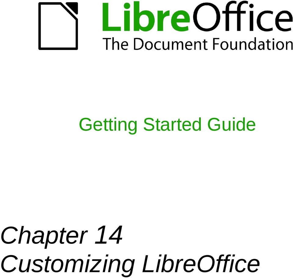 Getting Started Guide Chapter 14 Customizing Libreoffice Pdf Block Diagram
