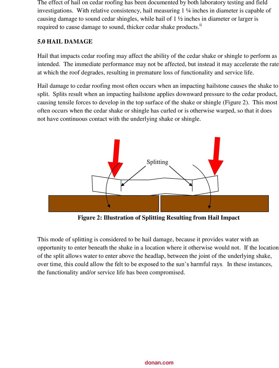 Functional Vs Non Functional Hail Damage To Cedar Roofing