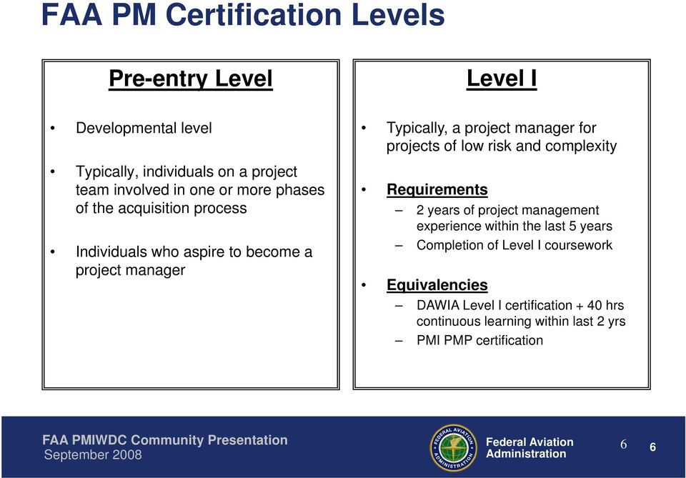 Faa Program And Project Management Development And Certification Pdf