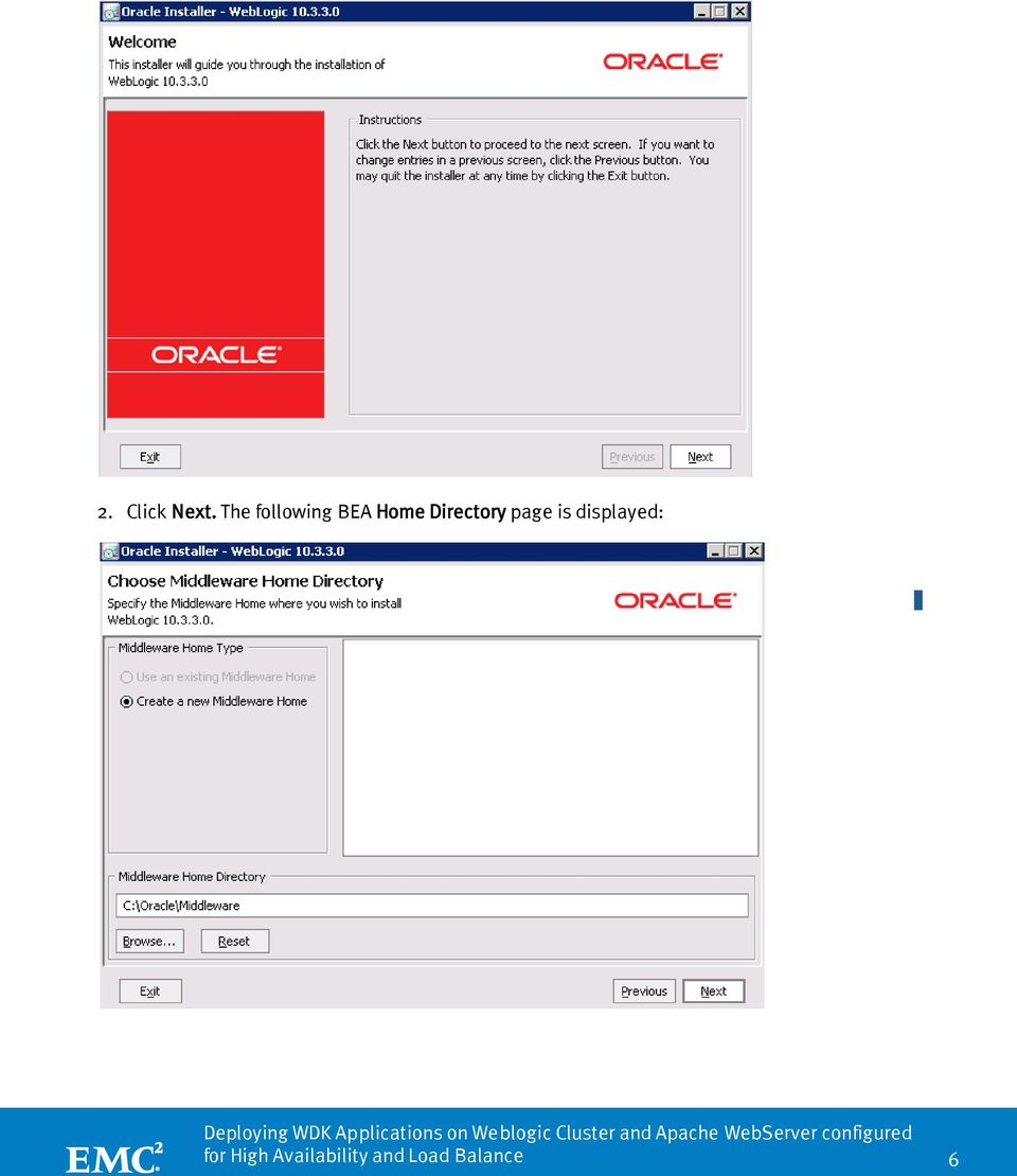 White Paper DEPLOYING WDK APPLICATIONS ON WEBLOGIC AND