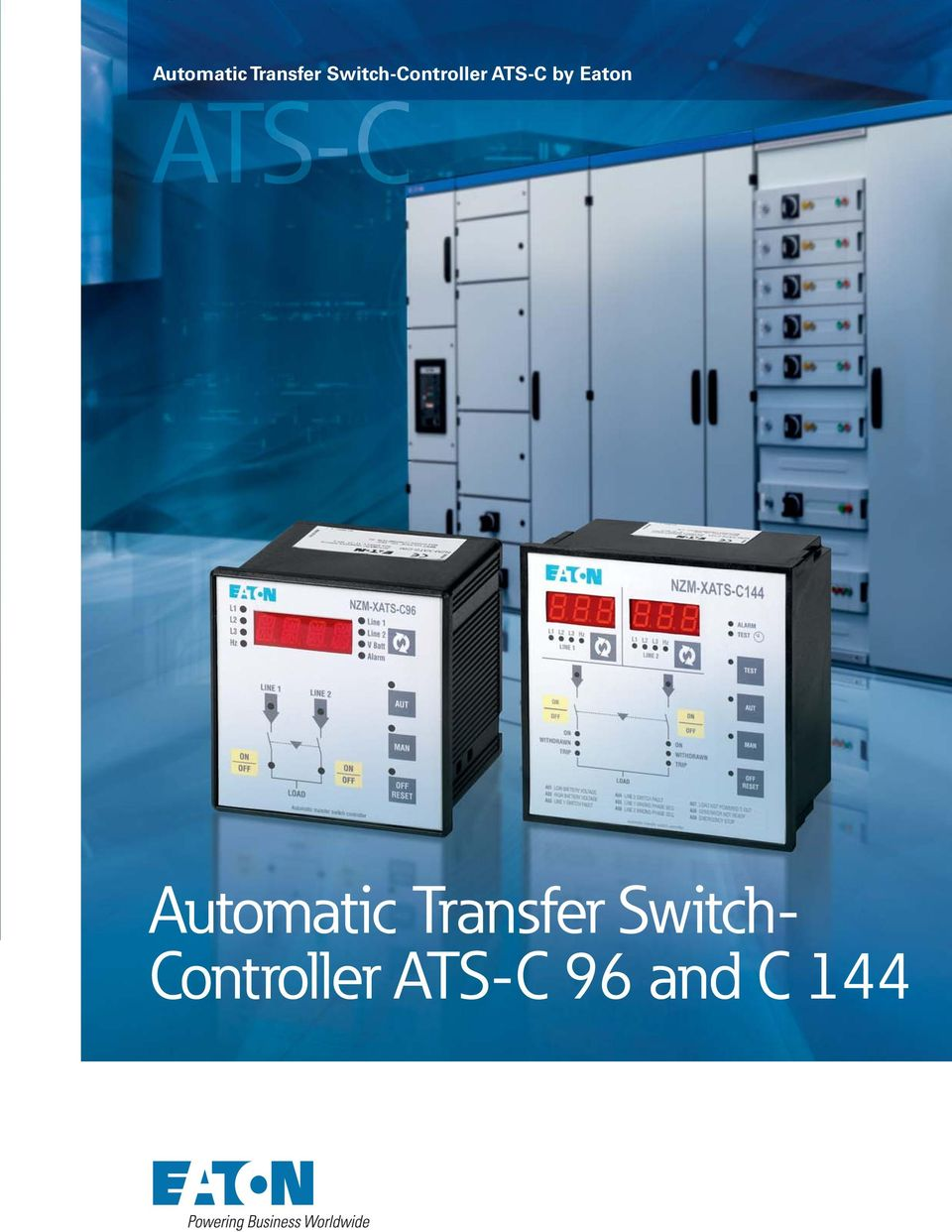 Automatic Transfer Switch-Controller ATS-C by Eaton. Automatic ...