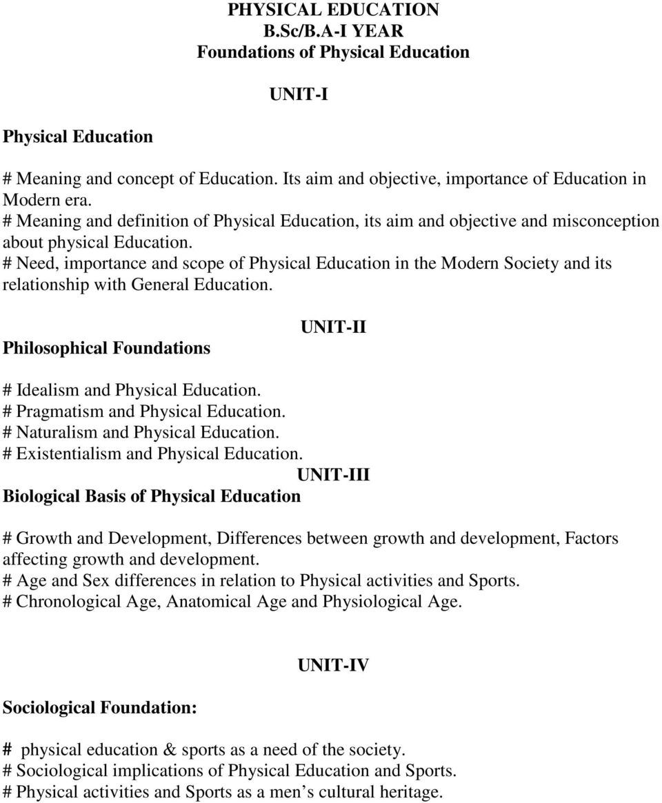 meaning and definition of physical education