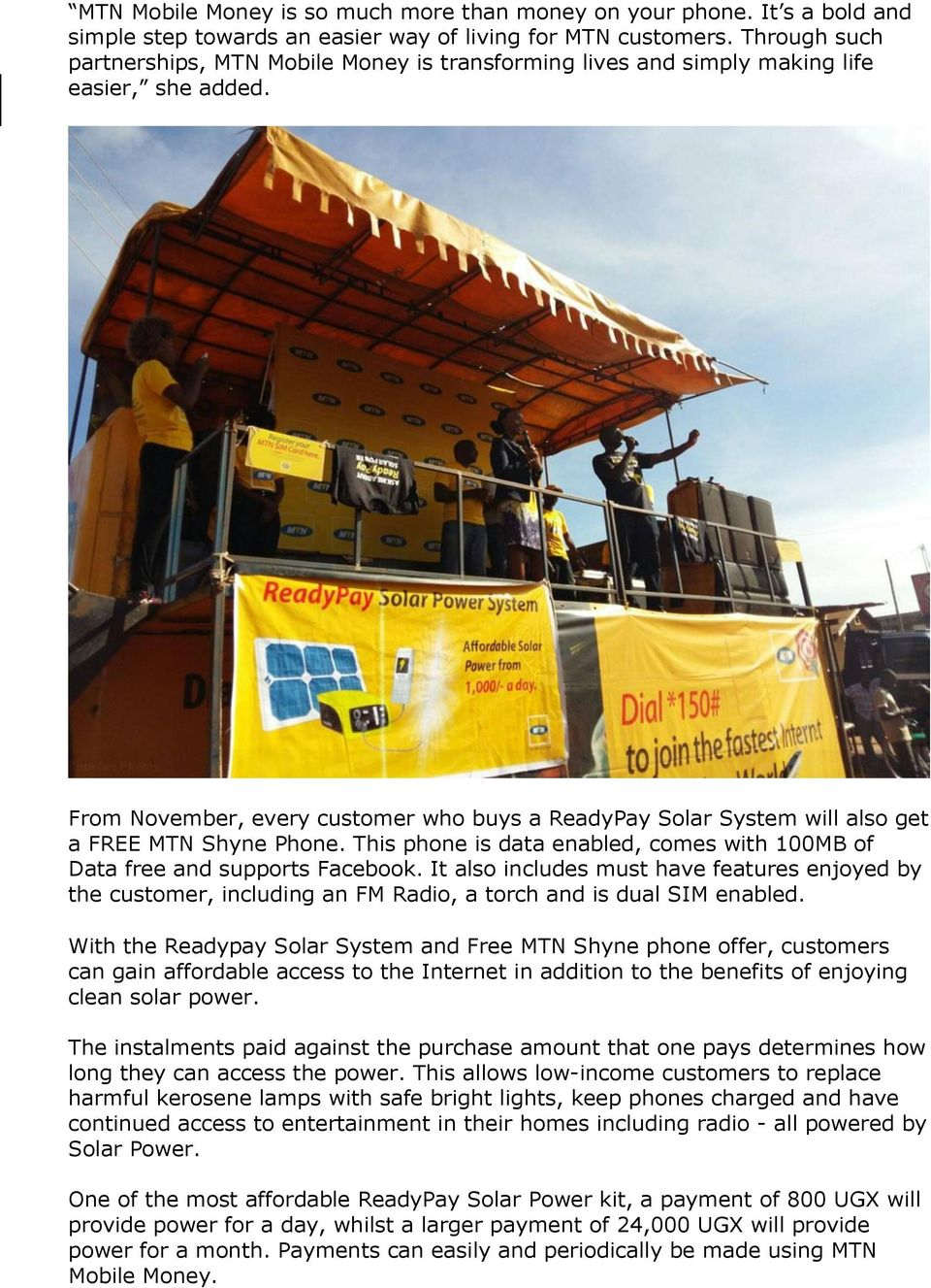 MTN and Fenix partner to offer free Internet enabled phones on