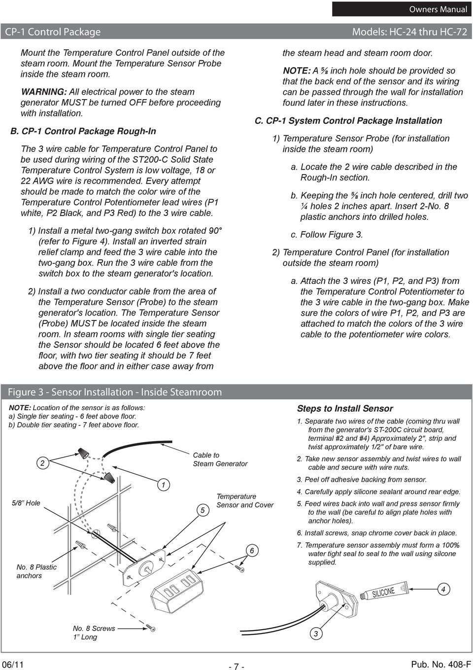 Potentiometer Wiring Red Black White Trusted Schematics Diagram Light Fixture 2 Owners Manual Pub No 408 F Pdf With Wire