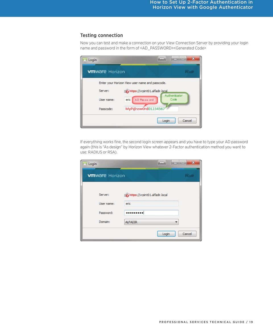 How to Set Up 2-Factor Authentication in Horizon View with Google