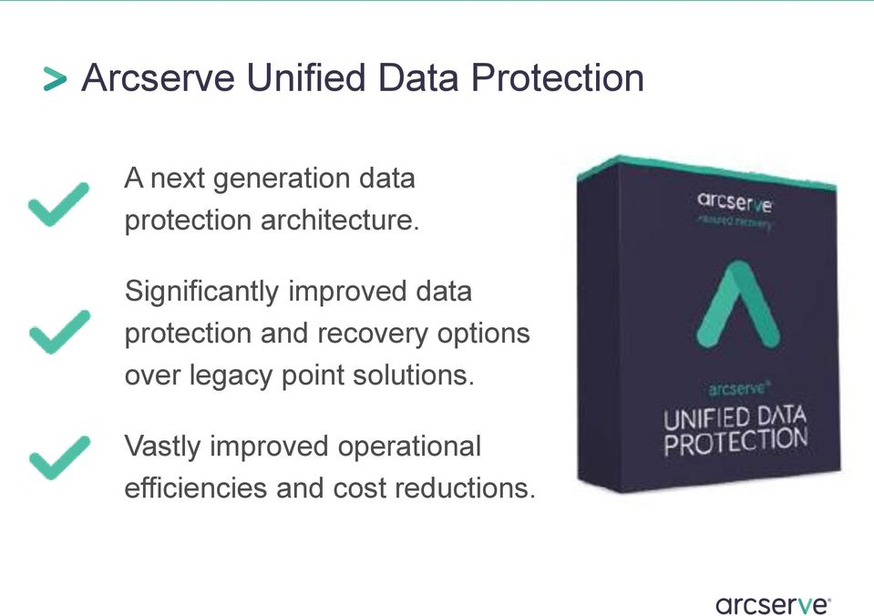 Significantly improved data protection and recovery