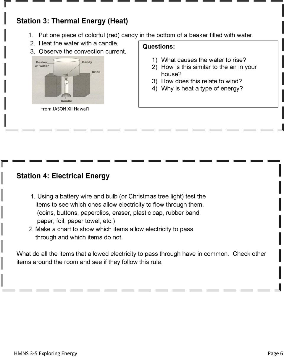 Exploring Energy Third Fifth Teks Vocabulary Pdf Christmas Tree Light Wiring Diagrams Test From Jason Xii Hawai I Station 4 Electrical 1 Using A Battery Wire