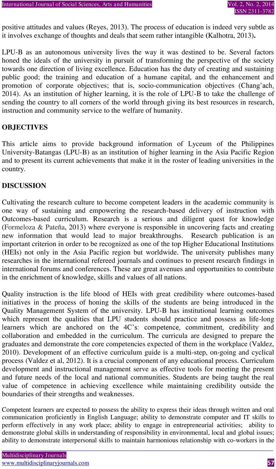 THE EXPERIENCE OF LYCEUM OF THE PHILIPPINES UNIVERSITY