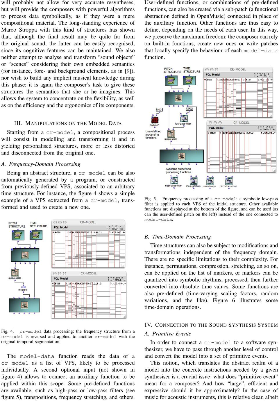 Generation and Representation of Data and Events for the