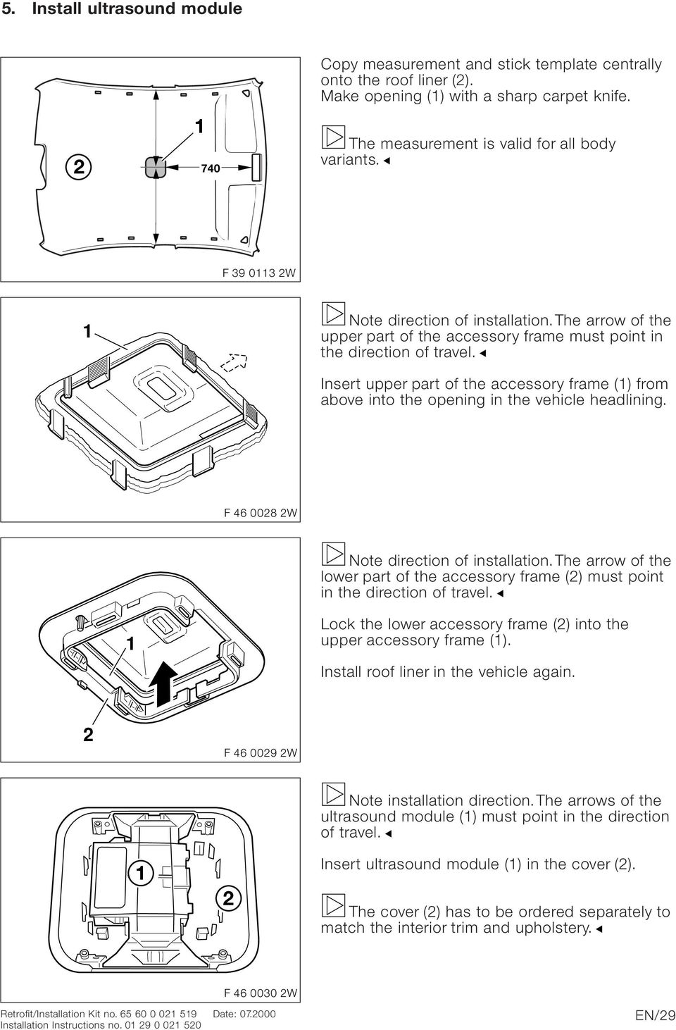 Bmw Parts And Accessories Installation Instructions Pdf 2011 R1200rt Wiring Diagram Insert Upper Part Of The Accessory Frame From Above Into Opening In