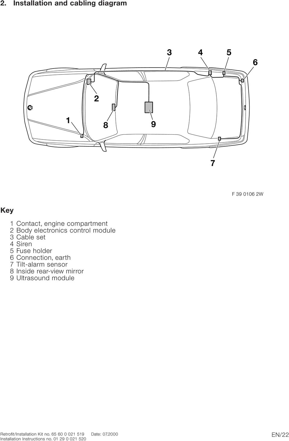 Bmw Parts And Accessories Installation Instructions Pdf 2003 Toyota Tundra Engine Compartment Diagram Connection Earth 7 Tilt Alarm Sensor 8 Inside Rear View Mirror 9 Ultrasound