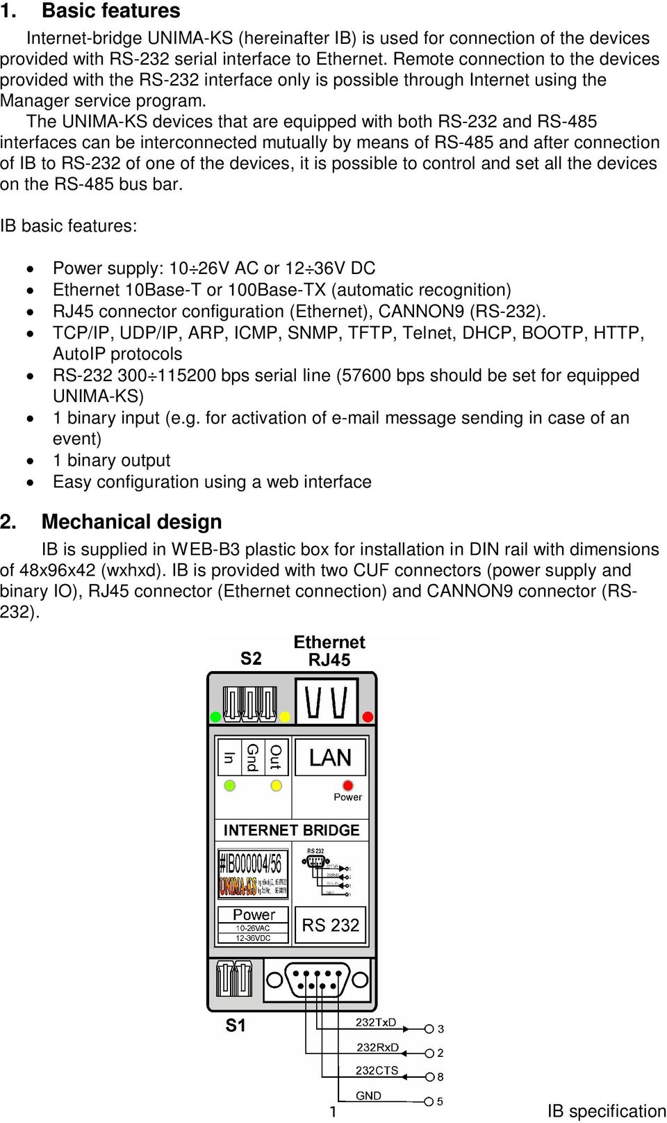 Internet Bridge Xport Pdf Wiring Diagram The Unima Ks Devices That Are Equipped With Both Rs 232 And