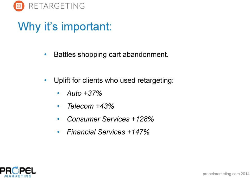 Uplift for clients who used retargeting: