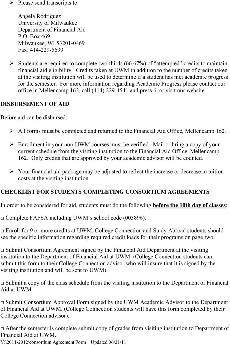 Instruction For Consortium Agreements Pdf