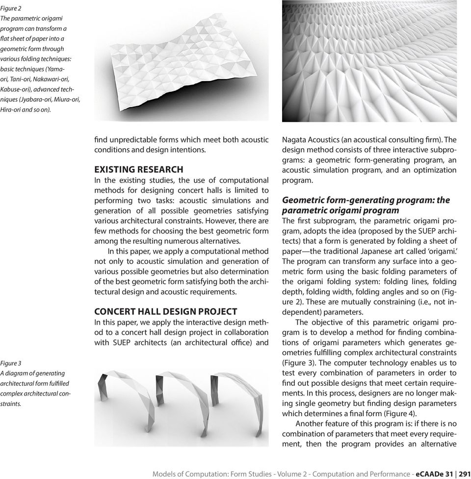 A Computational Method For Integrating Parametric Origami Design And Advanced Diagrams Find Guide With Wiring Diagram Unpredictable Forms Which Meet Both Acoustic Conditions Intentions