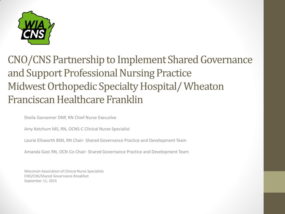 shared governance in healthcare